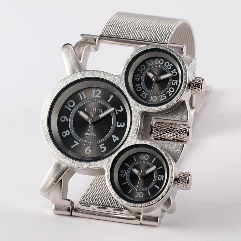 1 STÜCK / lot Männer Watch Oulm HT1167 Reloj Hombre Acero Inoxidable Montre Homme de Marquekek Saat Relogio Masculino Original Armbanduhren