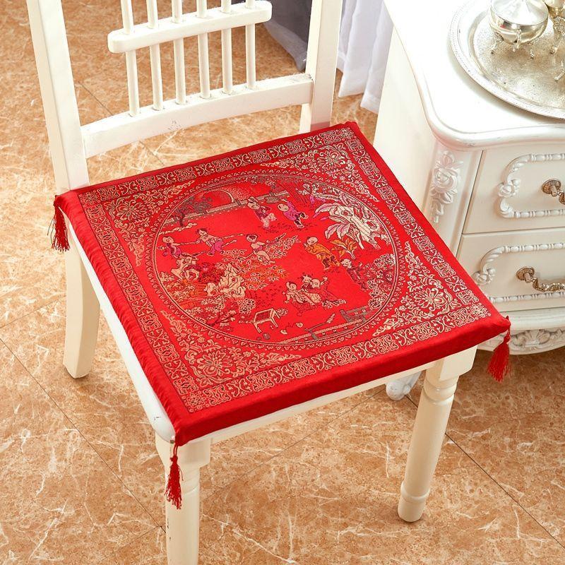 Produtos domésticos fornecimentos de casamento tradicional chinês clássico clássico cadeira de cadeira de assento quadrado macio almofada antiderrapante f8251 210420