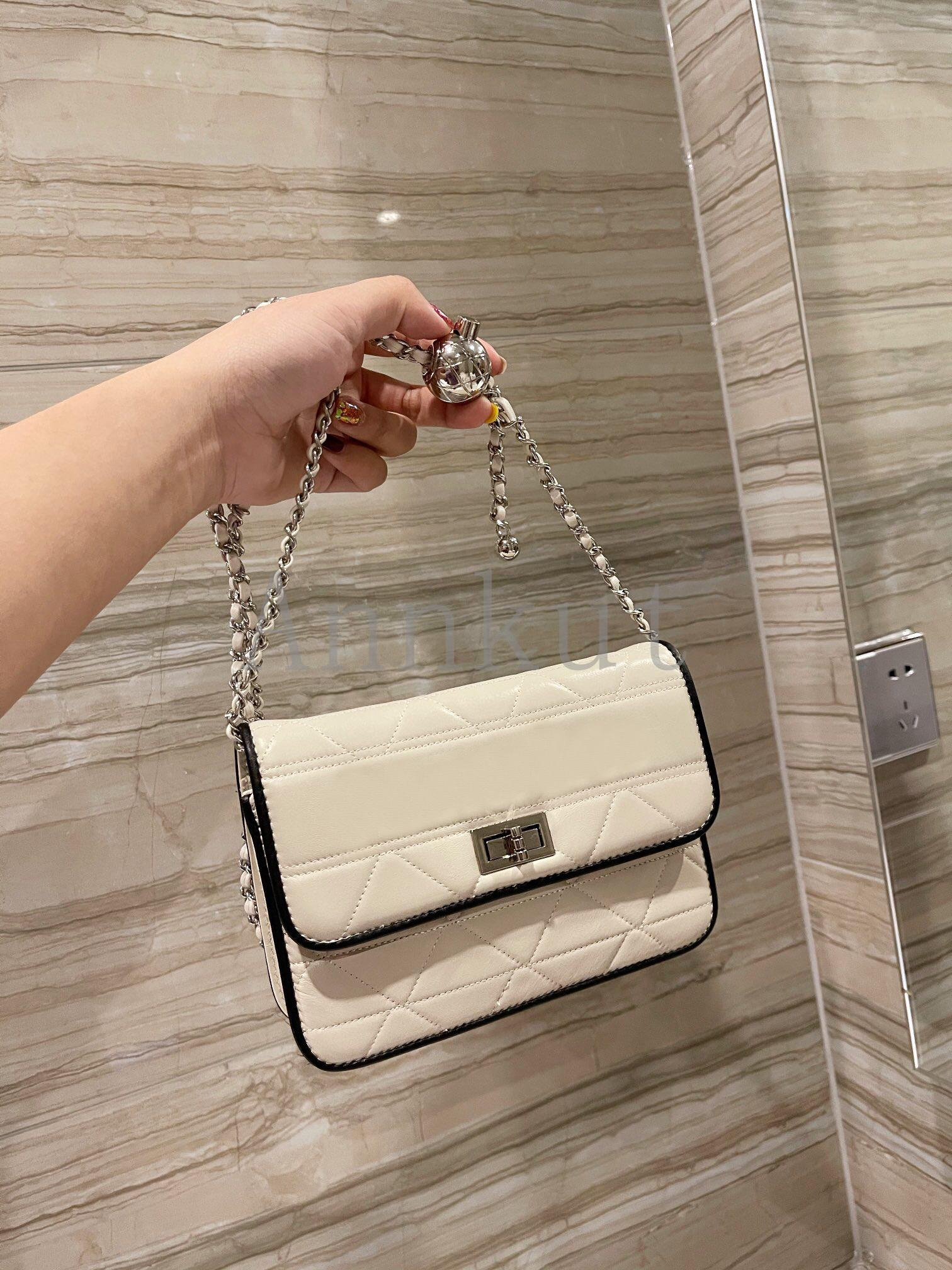 المرأة أكياس السلسلة المعدنية WOC، جلد طبيعي رسول حقيبة يد الكتف ماركة أزياء التسوق سيدة محفظة