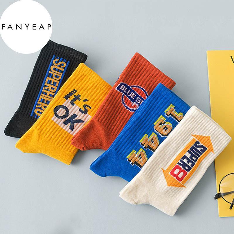 Medias de los hombres de tubos medio Moda High Top Top Basketball Socks Ins Street y delgado estilo deportivo de las mujeres