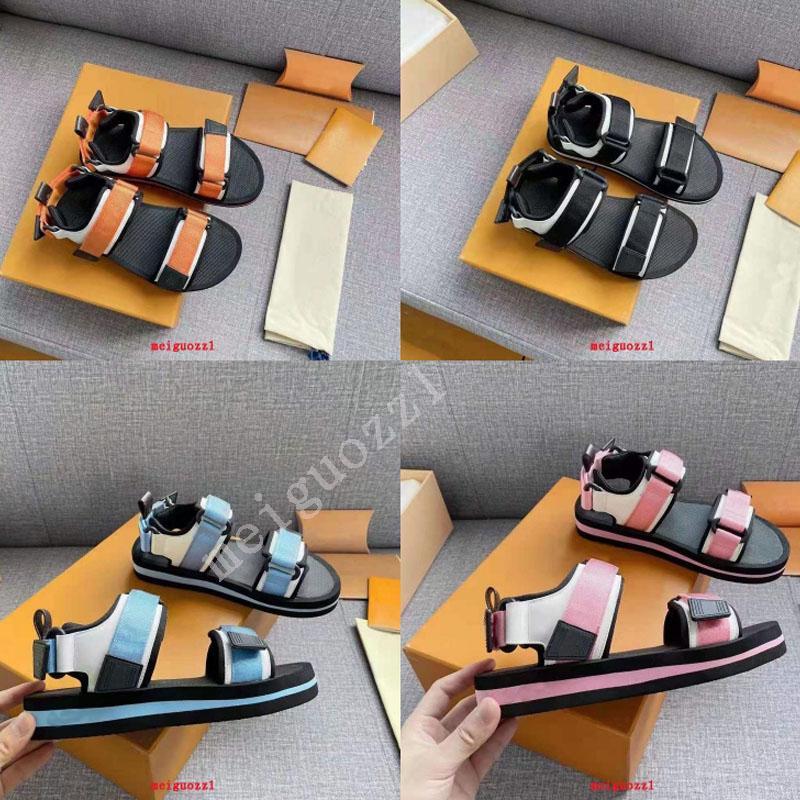 2021 Marke Frauen Sandalen Designer Männer Freizeitschuhe Sommer Outdoor Mode Luxus Damen Sandale Hohe Qualität Flache Strandschuh 35-45