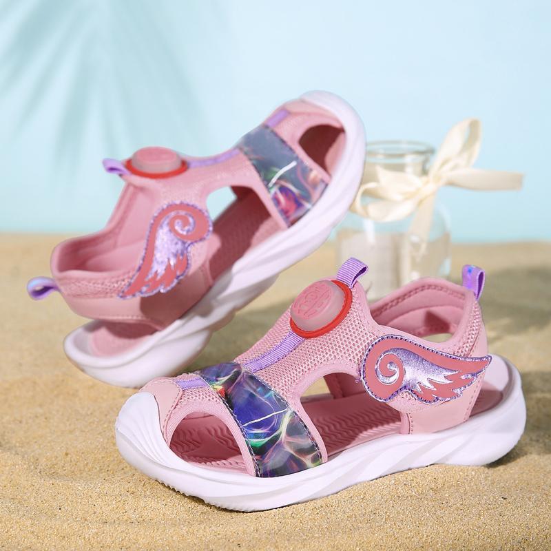 بنات الصيف الصنادل الأميرة طفل رضيع فتاة شاطئ أحذية للطفل 3 إلى 13