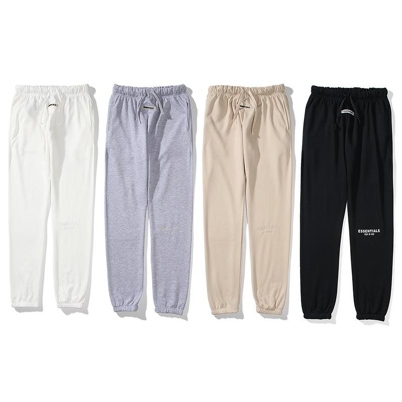 Double thread reflective pants embroidered letter 3m trousers Fear of God Fog Essentials mens womens casual sweatpants Jogger Pant trouses
