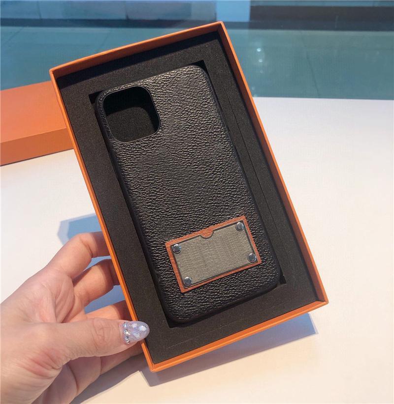 VPC01 أحدث الكلاسيكية بو الجلود الحالات الهاتف الأسود البني حالة تغطية 2colors في علبة هدية لفون 12 ميني 11 برو ماكس