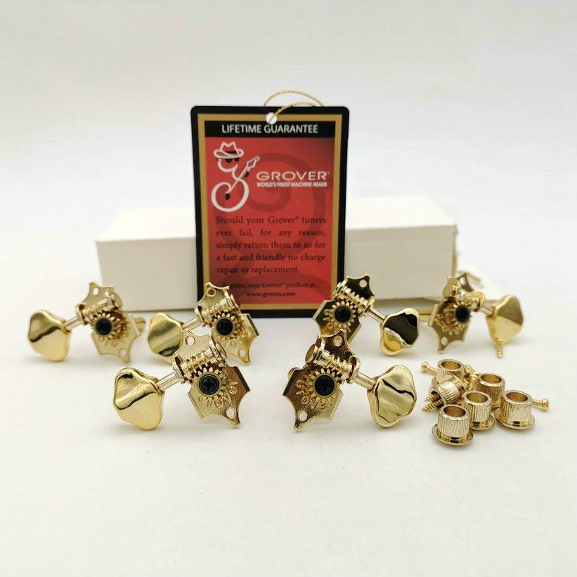 1 Set Grover Vintage Guitar Machine Teste Sintonizzatori Attrezzatura in oro Tuning Pegs V97 da