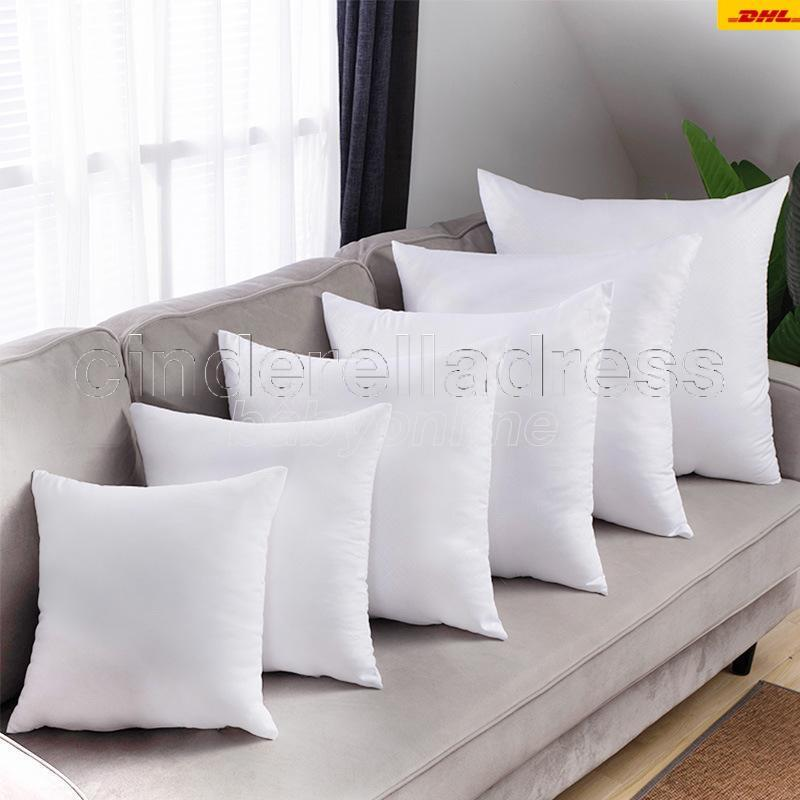 DHL Sublimación Funda de almohada Funda de transferencia de calor Cubiertas de almohada de sublimación Cojín de almohada 40x40cm Cubiertas de almohadas de poliéster CA16