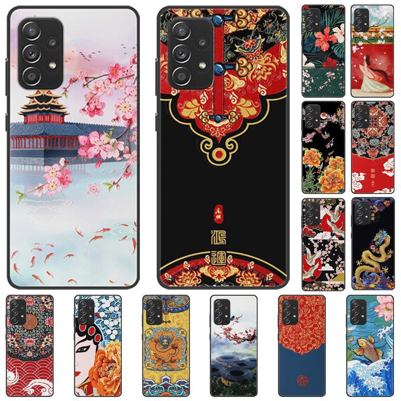 3D estilo chinês cópias ricas em relevo casos Flor Dragão Crane Silicone para iPhone 12 11 Pro XR XS Max x 8 Samsung S20 PLUS S21 Ultra A12 A32 A52 A72 A51 A71 A11 A21