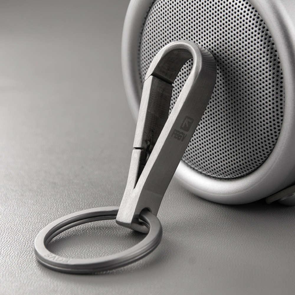 Acessórios de moda de aço inoxidável de aço inoxidável pingente de cintura personalidade criativa anel de carro chaveiro presente