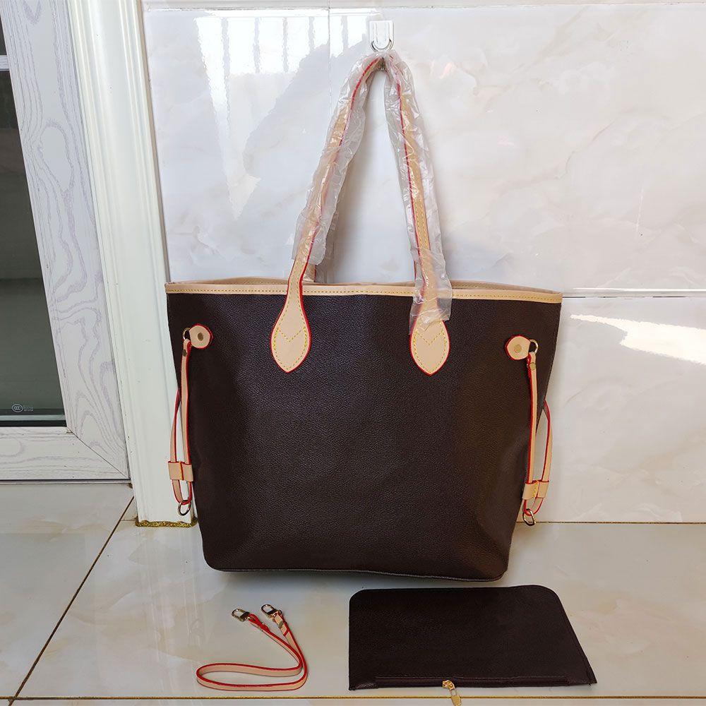 2pcs sets classic women leather handbags bags female flower ladies handbag wallets Luxury hand mother bill of lading womens shoulder bag+Small purse M40157 M40156