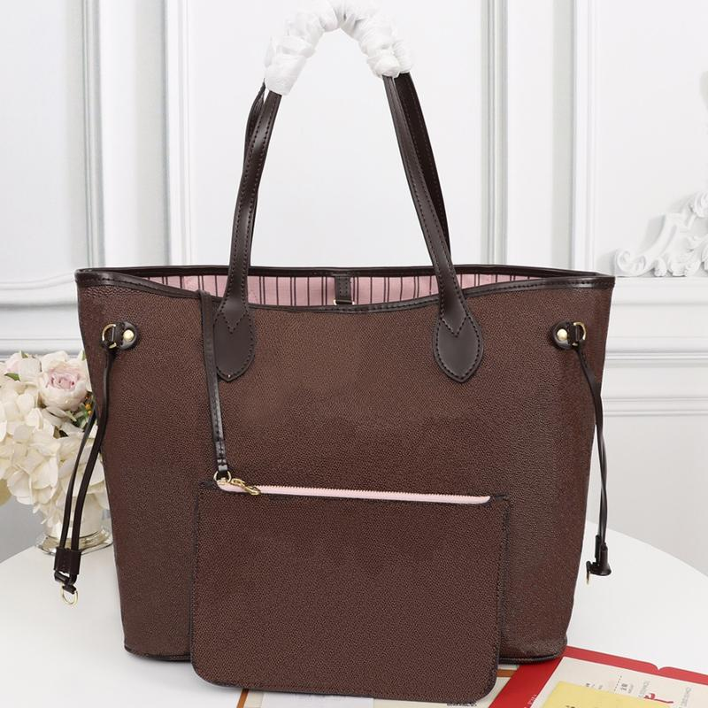 Fashion Womens Totes Bags Top Senhoras Saco Dois Peça Definir grande capacidade 40 * 33 * 20 cm de alta qualidade bolsa bolsa com código serial