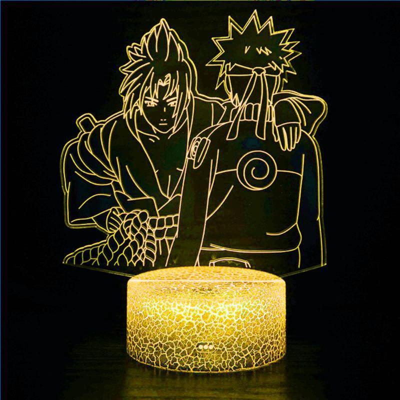 Night Lights 3D Light Anime Japanese Action Character Movable Cool Doll Toy Decoration Model Christmas Gift LED Desk Lamp