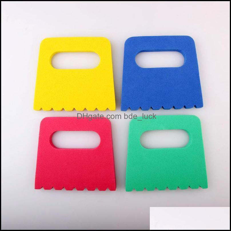 Chevalets papier apprentissage éducation cadeauxKids plastique colorf modélisation aessories Eva pigment grattoir art fournitures enfants ding jouets ensemble de 4 D