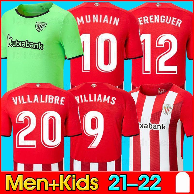 2021 2022 Bilbao 축구 유니폼 맨 키트 키트 운동 i.martinez Williams 축구 유니폼 Yuri B Raul Garcia Muniain Camiseta de Bilbao 20/21