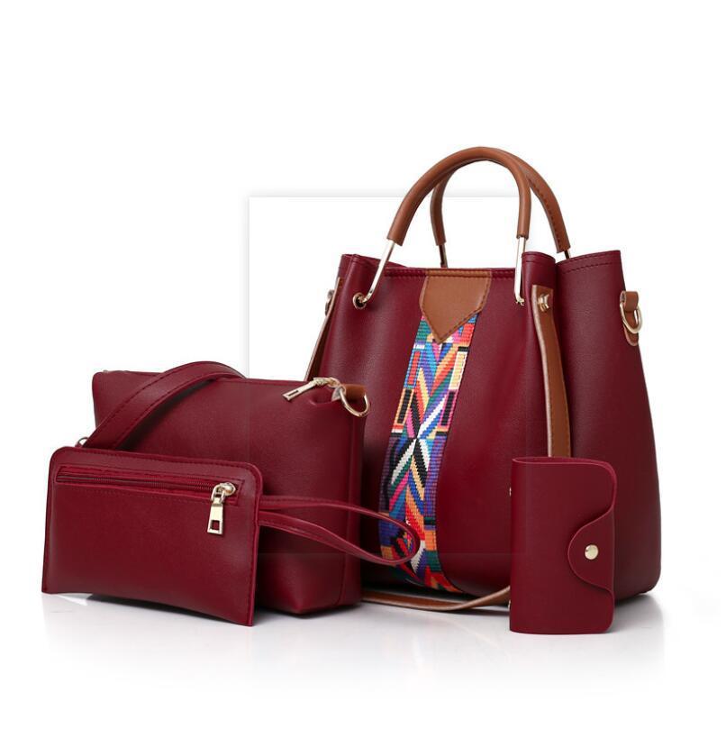 Bolsas de ombro HBP Bolsas de couro de alta qualidade para mulheres saco designer preto Emboss Totes Messenger Cross Body