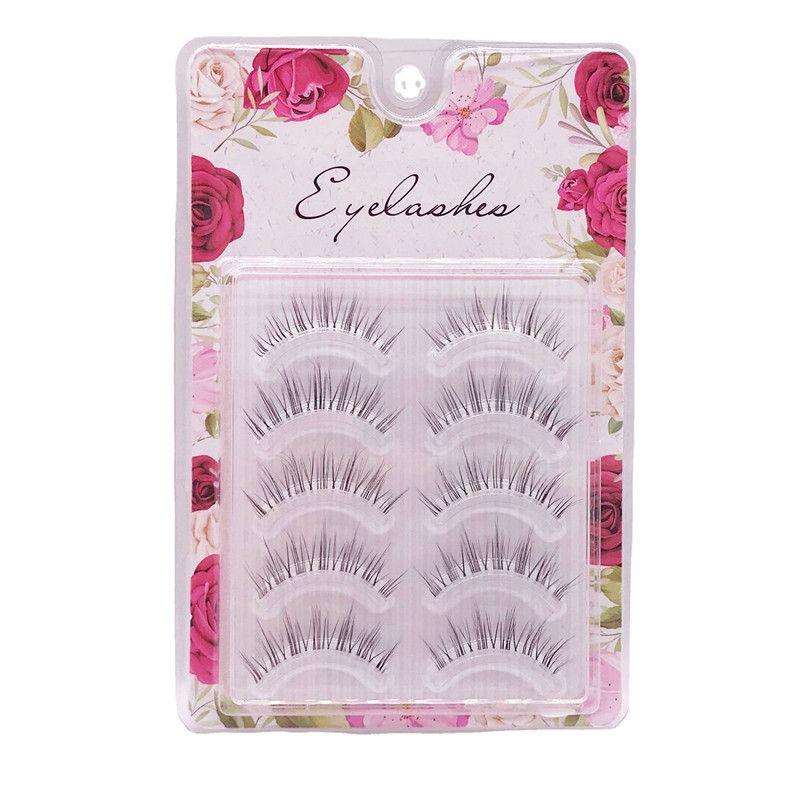 Transparent Terrier False Eyelashes 5 pairs Handmade Soft Lashes Natural Wispy Eyelash Extension Makeup Maquiagem