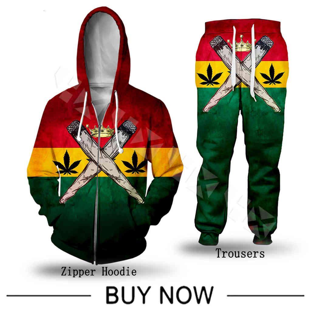 Moda Reggae Creator Bob Marley Uomo Abbigliamento 3D Stampa con cappuccio Felpa Donna Casual Streetwear Set di vendita calda HX989