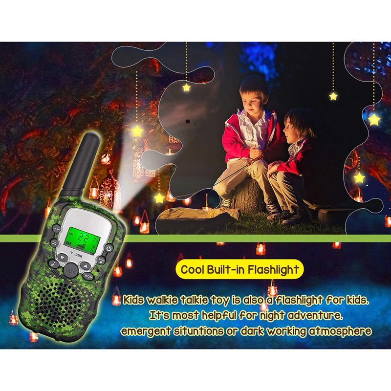 Walkie Talkie 2PCS Children's Radio Mini Gift Toy Handheld Smart Wireless Camouflage UHF Transceiver