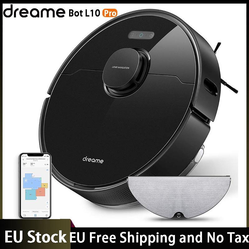 EU Stock Dreame Bot L10 Pro Robot Vacuum Cleaner Superb LiDAR Navigation, 4000Pa Suction ,150mins Auto Charge
