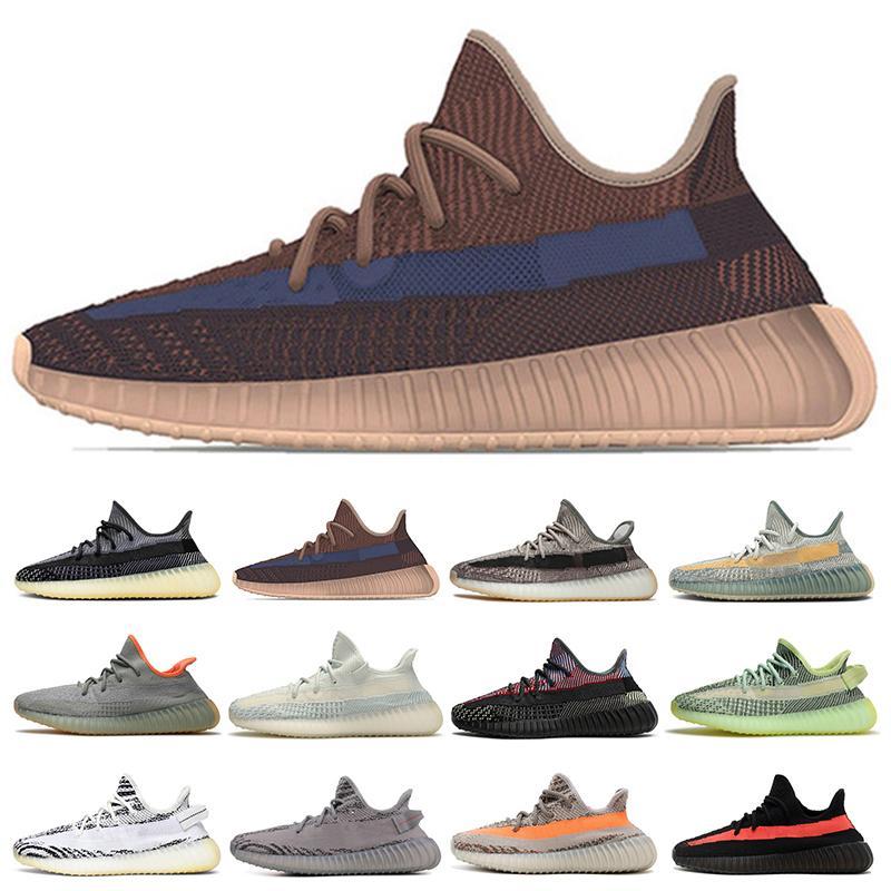yeezy boost 350 V2  Erkek Kadın Koşu Ayakkabıları Eğitmenler Karbon Cinder Zebra Statik Siyah Yekeil Yansıtıcı Beluga Eliada Zyon Erkek Açık Sneakers 36-48