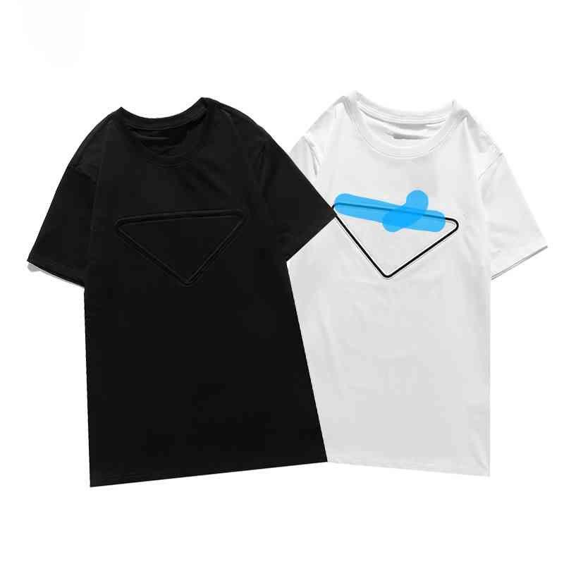 2021 Роскошная повседневная футболка Новый мужской одежда дизайнер с коротким рукавом футболка 100% хлопок высокое качество оптом черно-белый размер S ~ 2xL