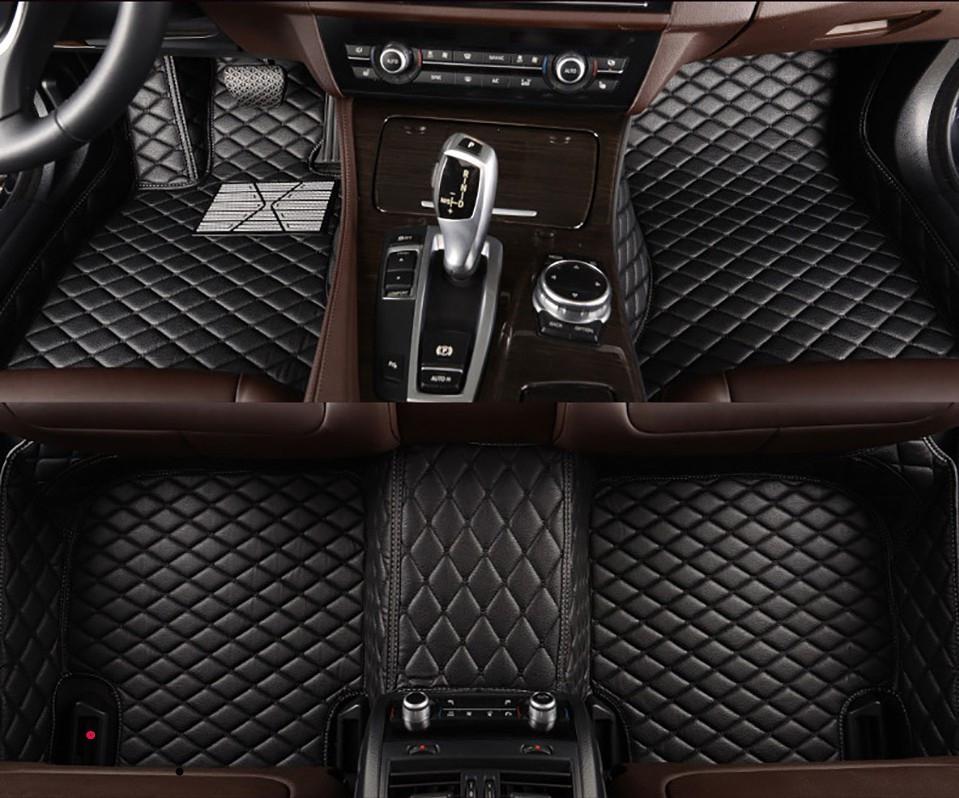 Mats de piso de carro de couro flash para RENAULT CLIO 2002 2007-2018 Auto Foot Pads Capa de Carpete de Automóveis