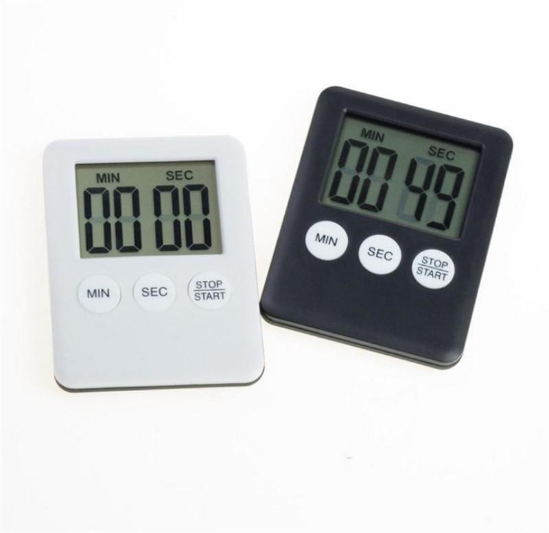 Digital Cuisine Timers Compte à rebours Back Stand Durée de cuisson Complet Réveil Horloge Cuisine Gadgets Outils de cuisson LLE6858