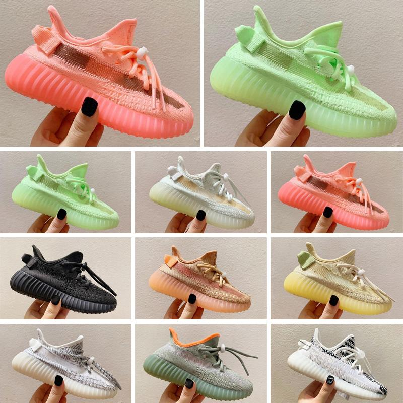 kids shoes boys girls Kany 3M Reflective West Yecheil Static Glow Green Clay Toddler Children Trainers Sneakers 24-35