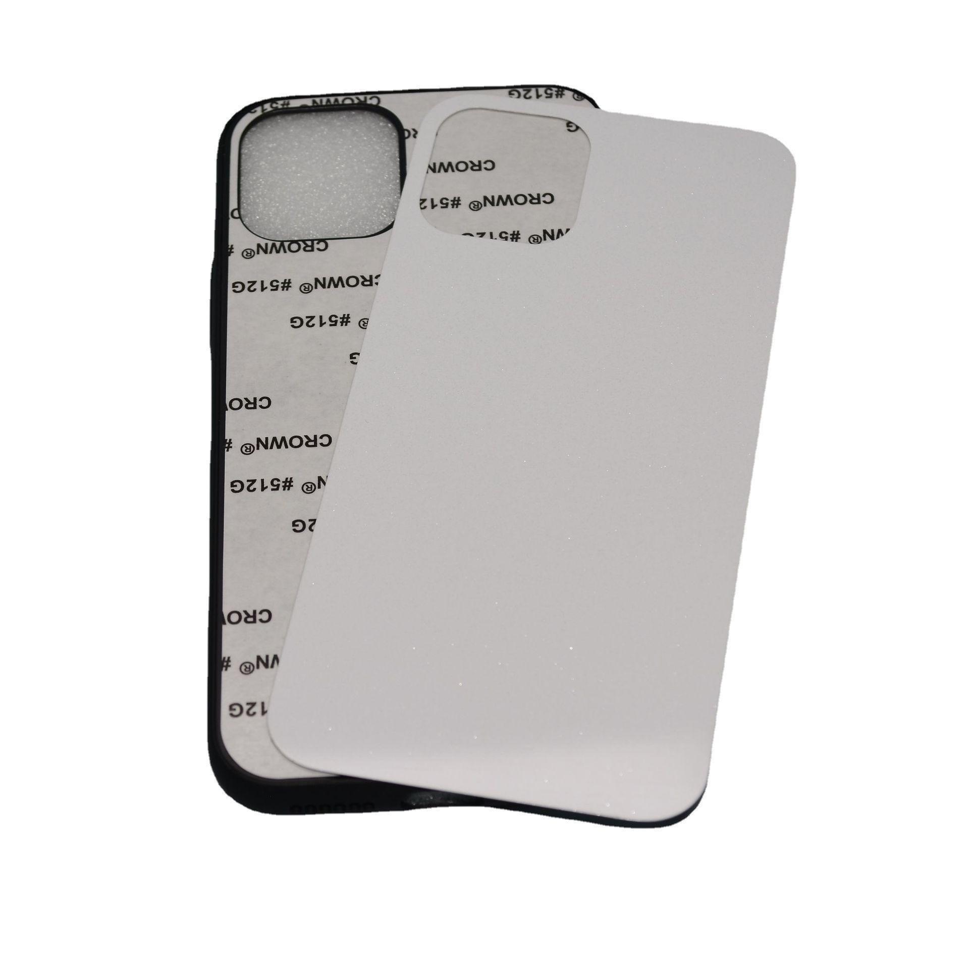 Gummi TPU + PC DIY Sublimation Hüllen Abdeckung für iPhone 13 12 11 PRO MAX XR XS 6 7 8 Plus mit Aluminiumblechkleber 100pcs / lot