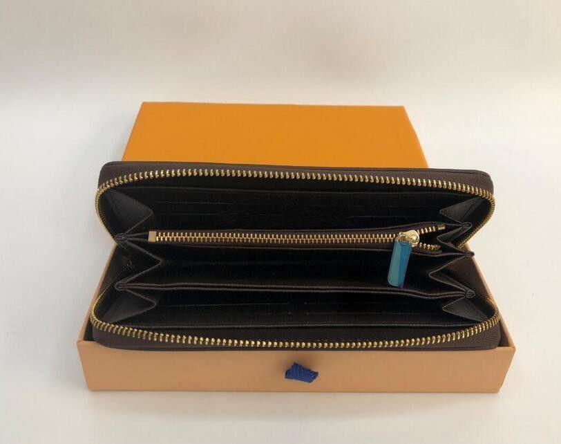 Сумка кошелек кожаные кошельки продажа мода мужская и женская сумка высокого качества одиночная на молнии длинные кошельки сцепления кошельки монеты с коробкой