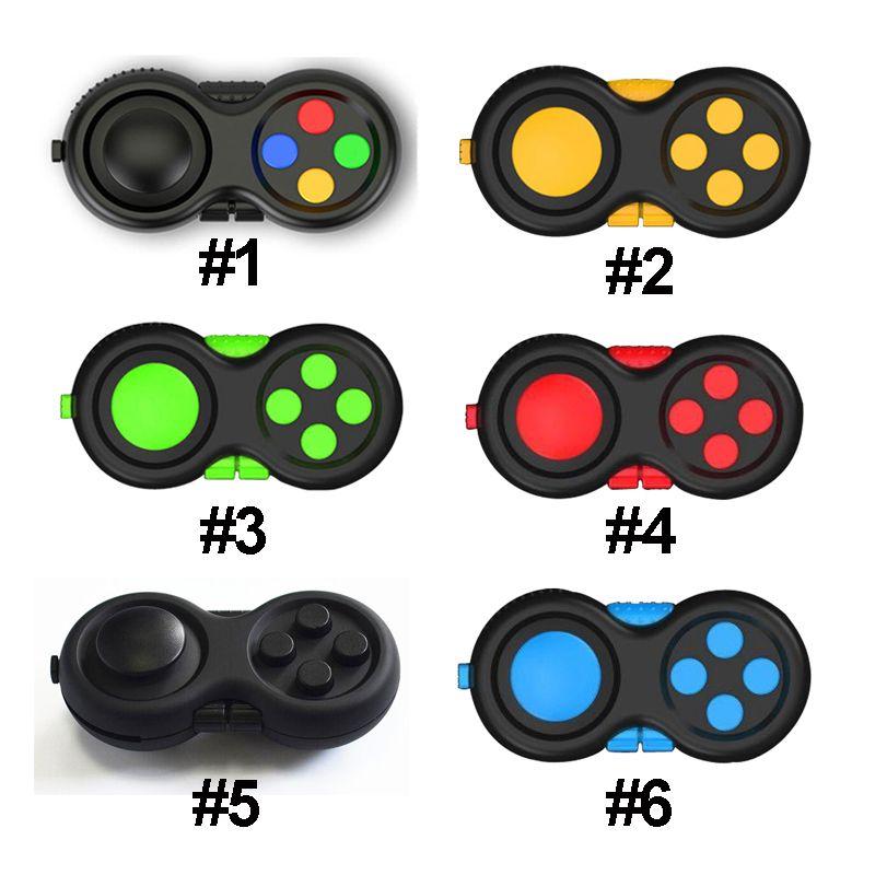 Fidget Pad Oyuncak Denetleyicisi İkinci Nesil Fidgets Küp El Shank Oyun Kontrolörleri Parmak Dekompresyon Anksiyete Oyuncaklar