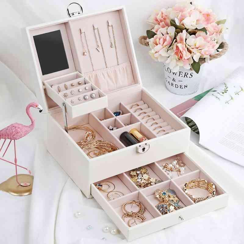 CASSEG Tiroir Jewlery Grand Boîte de rangement multifonction Portable de bijoux Portable Portable peut être personnalisé 210331