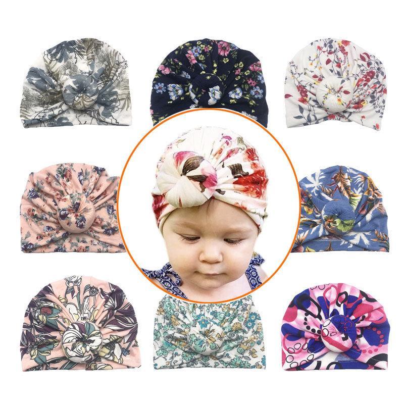 دونات الطفل قبعة الأزهار طباعة الوليد مطاطا القطن الطفل قبعة كاب متعدد الألوان الرضع العمامة القبعات الطفل عقال طفل صور الدعائم 780 Y2
