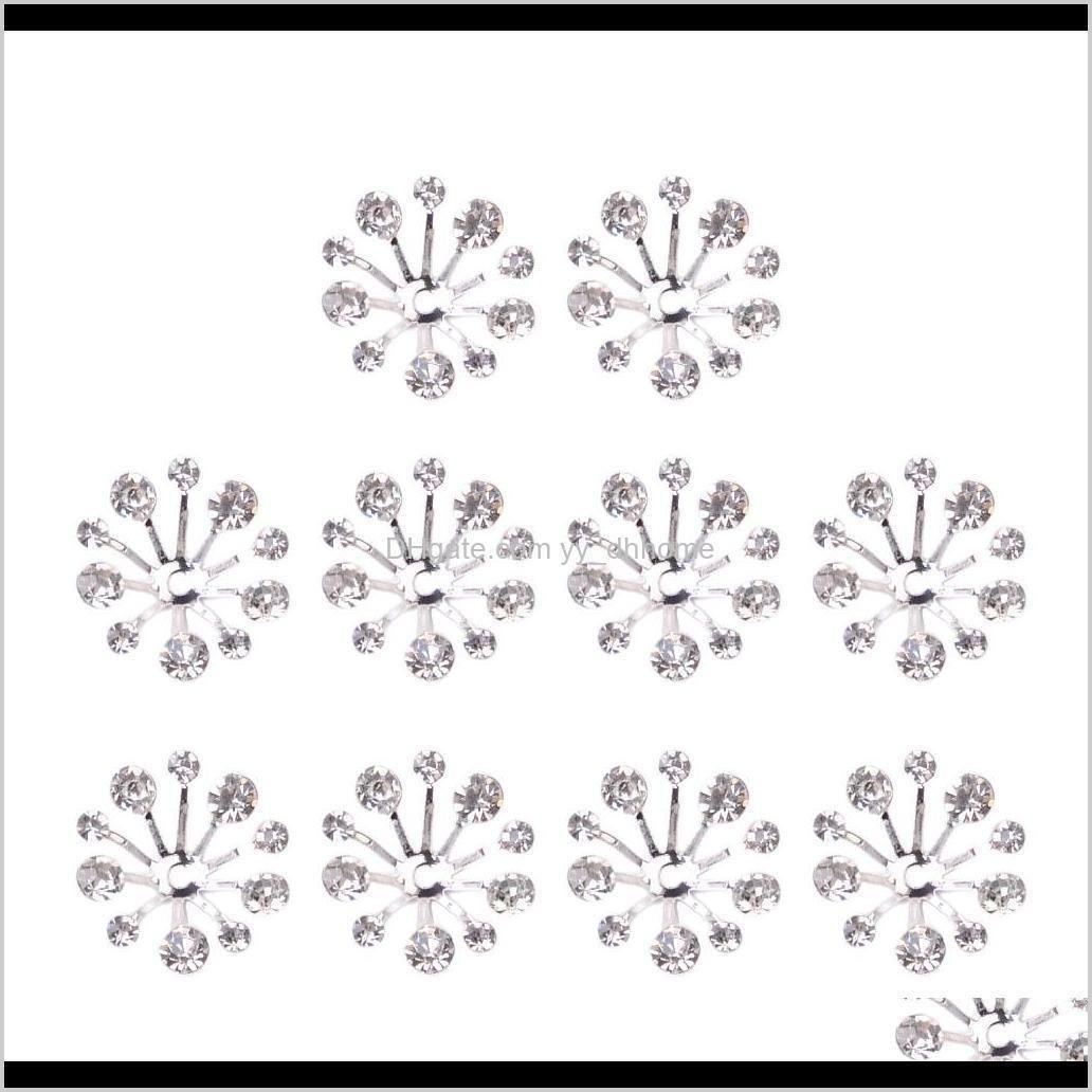 Tools 10Pcs Crystal Filigree Flower Bead Petal End Cap Finding For Jewelry Making Ea8Xt Kr2Zo