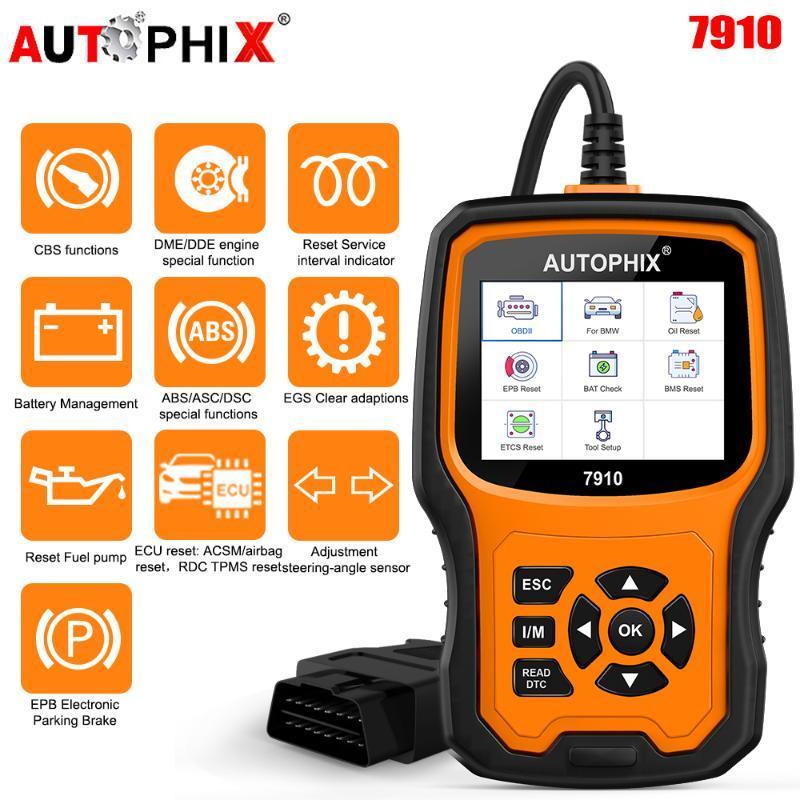 Autophix 7910 OBD2 Scanner Full System Transmission Oil EPB SAS Airbag TPMS Reset Code Reader Car Diagnosis Tools Diagnostic