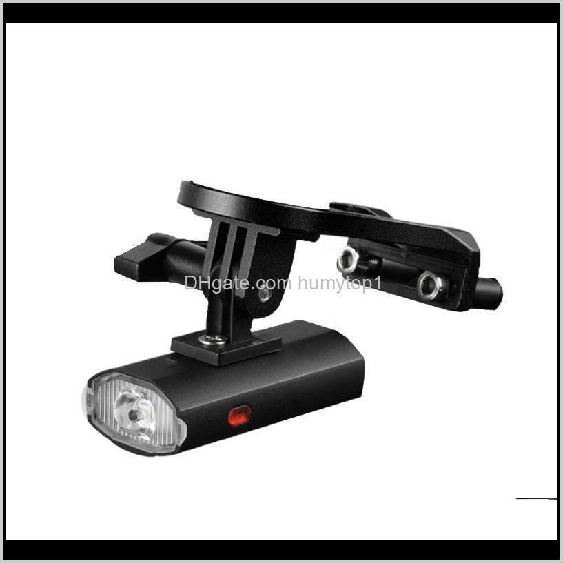 Огни 300LM водонепроницаемый USB аккумуляторная батарея передний держатель велосипеда боковая лампа 6 света режима безопасности велосипедов MC2D0 0TYPV