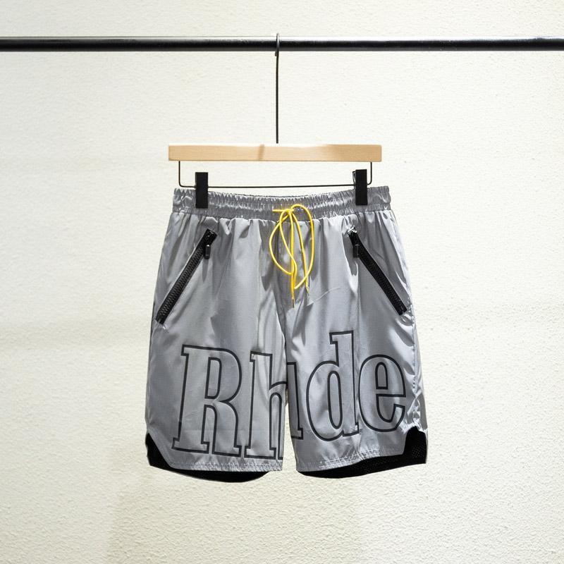 20ss الأزياء الصيف usa newyork 3 متر نايلون عاكس سلسلة السراويل النساء الرجال شارع العليا الأوسط السراويل الركض
