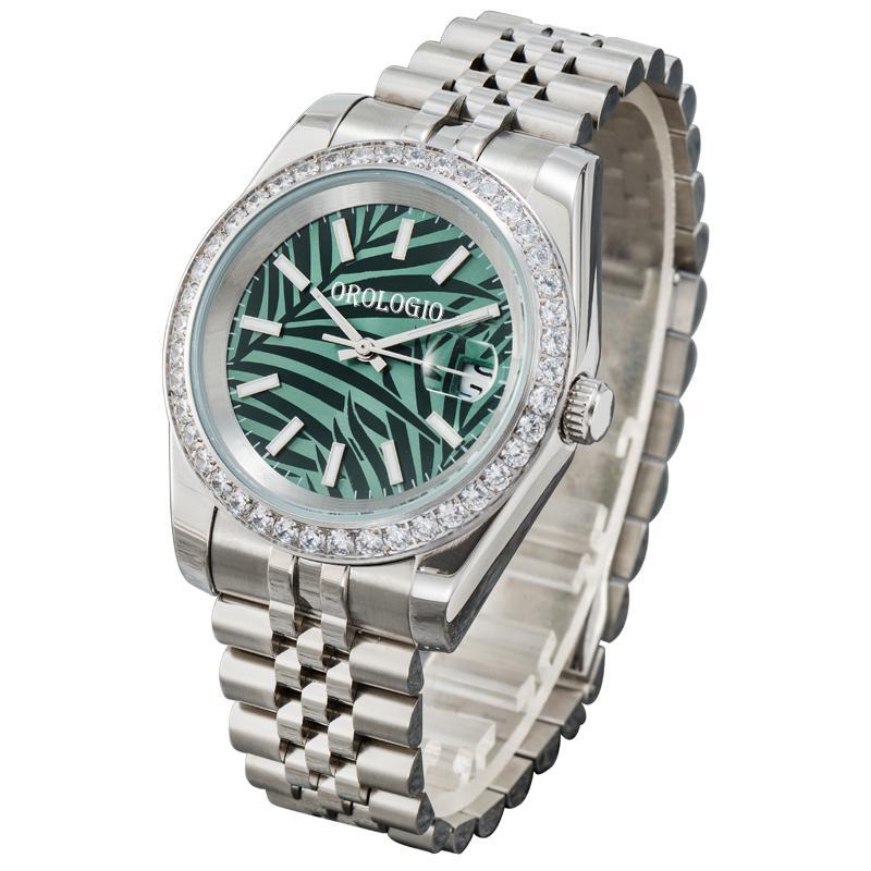 Orologio grüne Herren Automatische mechanische Uhren Montre de Luxe Full Edelstahl Saphhire Glas 5 ATM Wasserdichte super leuchtende Männer Diamantuhr U1 Fabrik