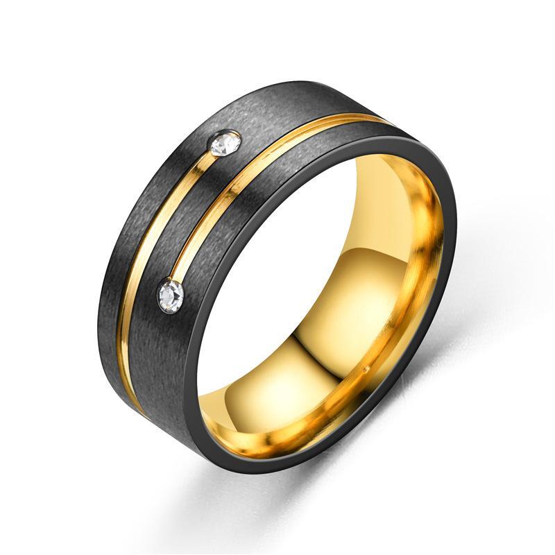 8MM Men's Blue Groove Beveled Edge Tungsten Carbide Ring Black Celtic Blue carbon fibre Ring Men Wedding Band Rings