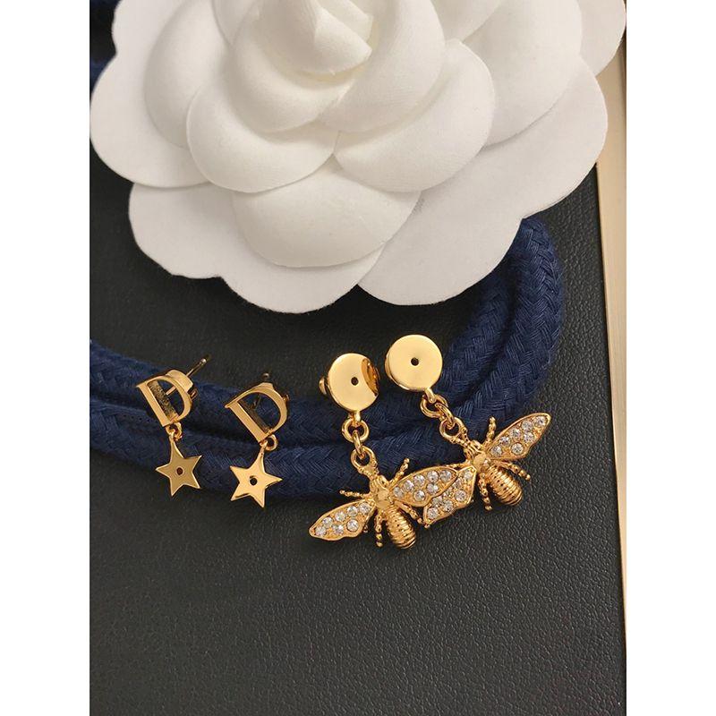 Pendientes de diseñadores Pendientes Joyería de moda 2021 Gold Stud Set Classic D letra de marca para mujeres Hombres Pearl Party Fiesta de boda Regalo 21041902XS