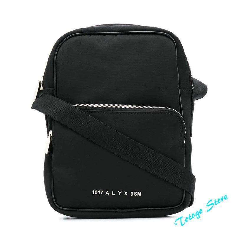 Hip-hop 1017 Alyx 9sm Bolsas de hombro hombres mujeres de alta calidad Nylon Vertical Messenger Bag Botón de metal Cámara de la cámara