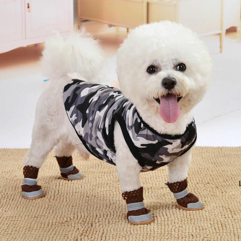Ropa de ropa de perro Perros de verano Chaleco de dibujos animados Imprimir Puppy Ropa Outwear de moda Outwears Casual algodón chaqueta para prendas mascotas DHC7399