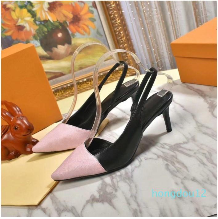 최고 품질 2021 럭셔리 드레스 신발 디자이너 스타일 샌들 특허 가죽 하이힐 여성 고유 편지 섹시 G005