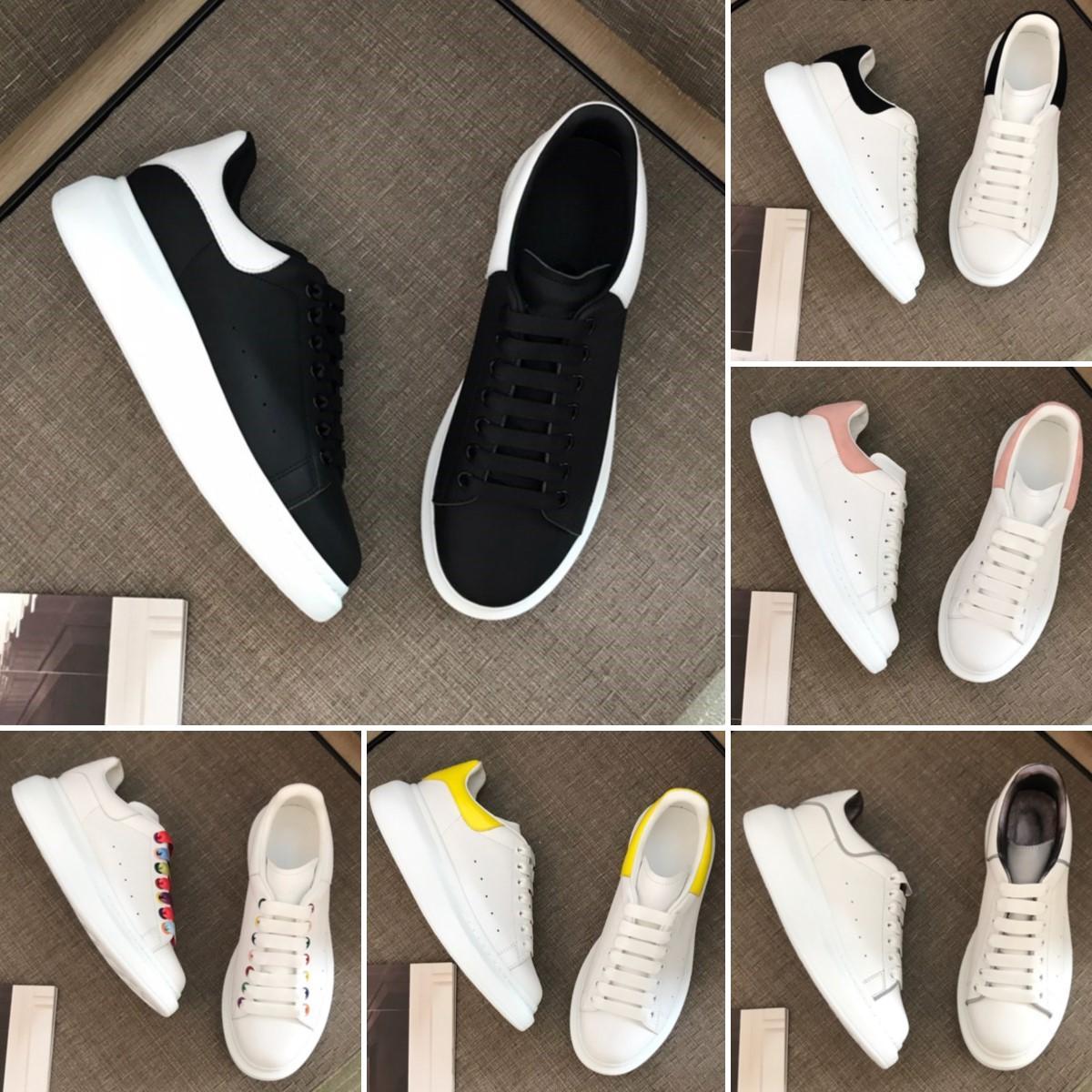 최고 품질의 가죽 흰색 신발 디자인 남성 여성 여성 스웨이드 벨벳 플랫폼 대형 단독 스 니 커 즈 레이스 최대 망 ESPADRILLES 플랫 캐주얼 구두 상자 및 로고 36-45