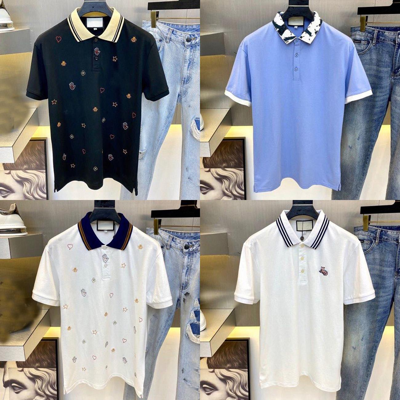 21SS 탑 QAULITY 여름 남성 디자이너 티셔츠 폴로 코튼 티셔츠 패션 캐주얼 커플 반팔 티 남성 티셔츠 비즈니스 폴로스