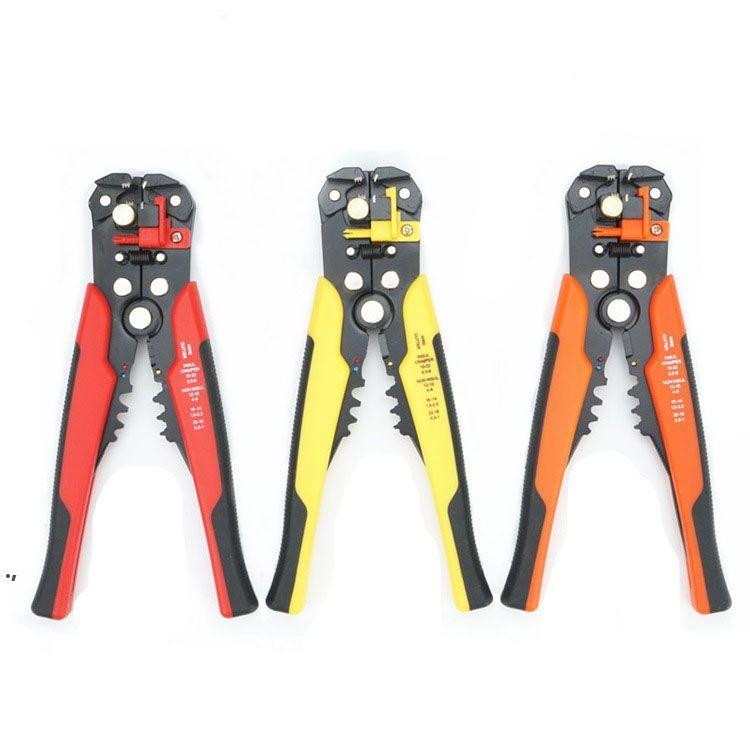 Coupe-câble sertisseuse Couper de fil automatique Outils de décapage multifonctionnels Stripping Pince à sertir Terminal 0,2 à 6,0mm2 Tool Seaway DWF8525
