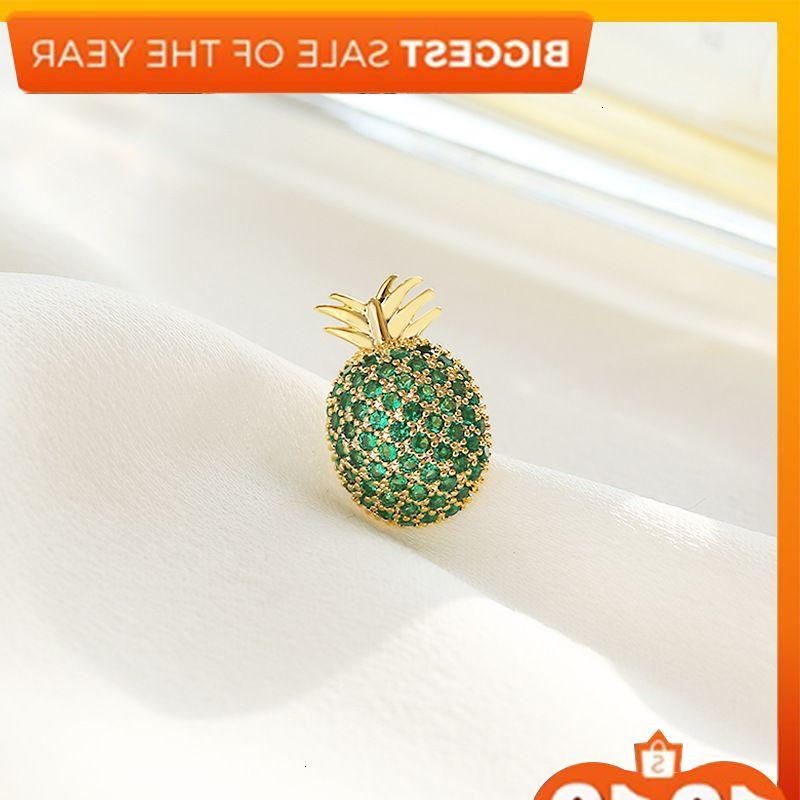Japanese and Korean series small fresh fruit cute pineapple Brooch simple versatile anti light button shirt collar pin