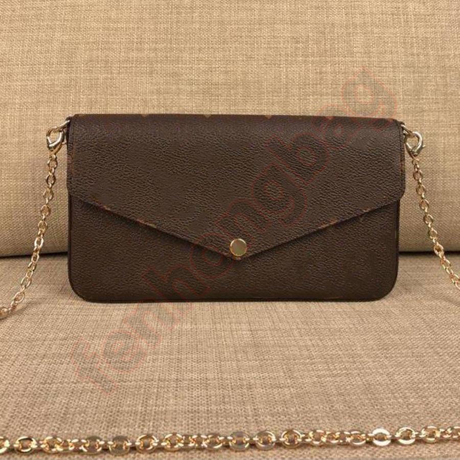 Luxuszeitet Designer Umhängetaschen Frauen Dame Messenger Bag 21cm Klassische Muster Echtes Leder Kette Handtaschen Geldbörse 01