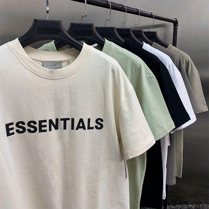 2021 new Fear Of God short long sleeve Tshirt 100% 11 fog essentials T-shirt kanye west shirt jerry lorenzo loose ovesized short sleeve Tee