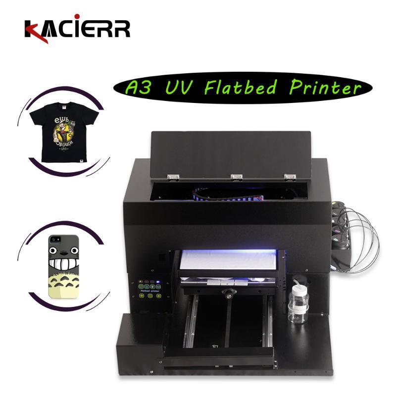 작은 가정 문서 / 안경 / 카드 / 옷 인쇄 프린터를위한 롤러 홀더가있는 잉크젯 플랫 베드 프린터