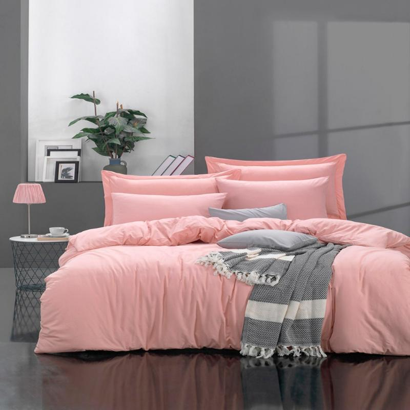 Bedding Sets 100% Natural Cotton Solid Color Double Duvet Cover Set FreshColor 4-Piece Modern And Stylish Design European American Style